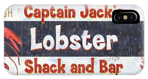 Catfish iPhone Case - Captain Jack's Lobster Shack by Debbie DeWitt