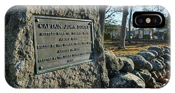 Captain John Locke Monument  IPhone Case