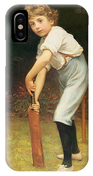 Cricket iPhone Case - Captain Of The Eleven by Philip Hermogenes Calderon