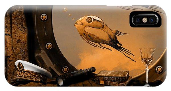 IPhone Case featuring the digital art Captan Nemo's Room by Alexa Szlavics