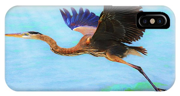 Captiva Crane In Flight IPhone Case