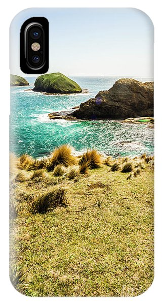 Attraction iPhone Case - Captivating Coastal Cliff by Jorgo Photography - Wall Art Gallery