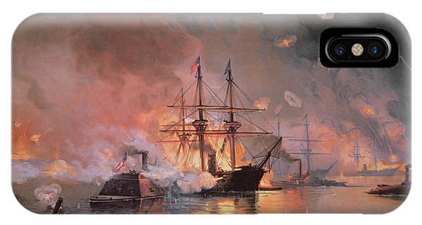 1862 iPhone Case - Capture Of New Orleans By Union Flag Officer David G Farragut by Julian Oliver Davidson