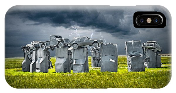 Car Henge In Alliance Nebraska After England's Stonehenge IPhone Case