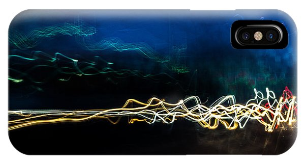 Car Light Trails At Dusk In City IPhone Case