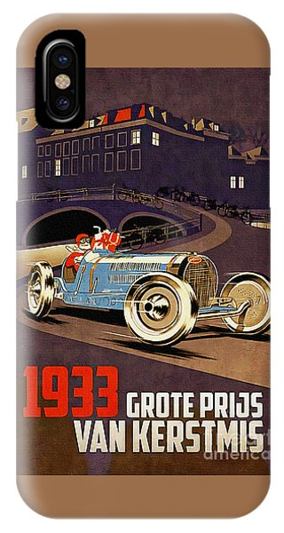Car Racing Christmas Poster Of The 30s IPhone Case