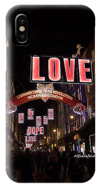 iPhone Case - Carnaby Street London Love by April Bielefeldt
