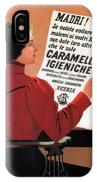 Advertising iPhone Case - Caramelle Igieniche - Vicenza, Italy - Vintage Advertising Poster by Studio Grafiikka