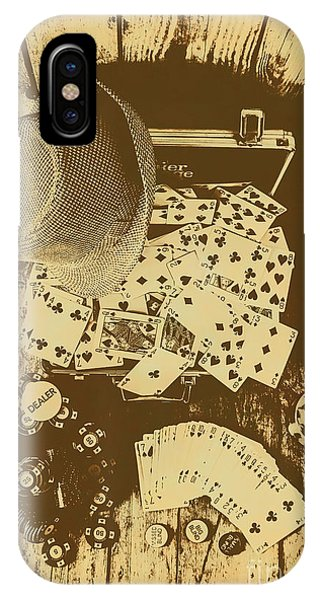 Liquor iPhone Case - Card Games And Vintage Bets by Jorgo Photography - Wall Art Gallery