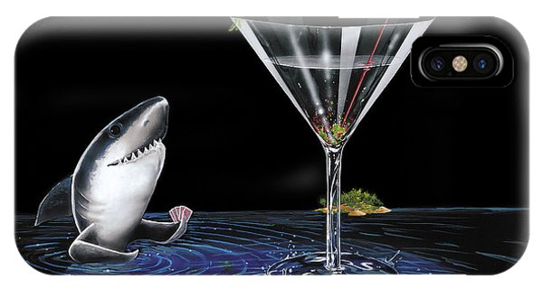 Martini iPhone Case - Card Shark by Michael Godard
