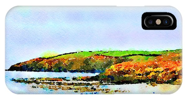 IPhone Case featuring the painting Cardigan Bay by Angela Treat Lyon