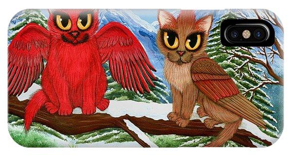 Cardinal Cats IPhone Case