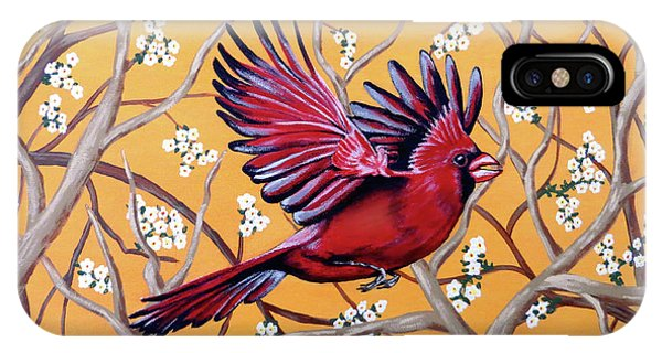 Cardinal In Flight IPhone Case