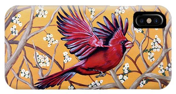Cardinal In Flight IPhone Case