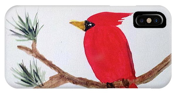 Cardinal In My Backyard IPhone Case