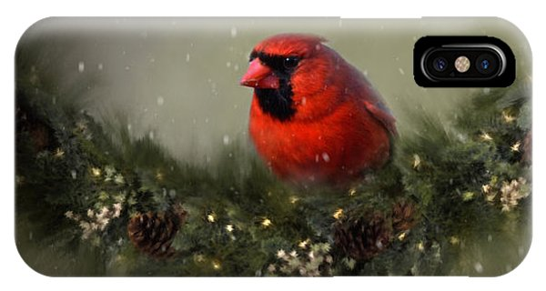 Cardinal Merry Christmas IPhone Case