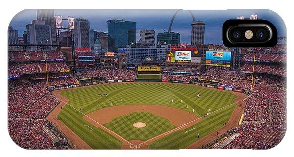 Cardinal Nation Busch Stadium St. Louis Cardinals Twilight 2015 IPhone Case
