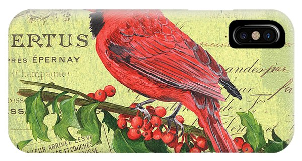 Colorful Bird iPhone Case - Cardinal Peace by Debbie DeWitt