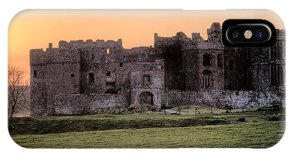 Carew Castle Coral Sunset IPhone Case