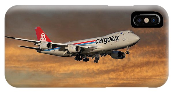 Jet iPhone X / XS Case - Cargolux Boeing 747-8r7 3 by Smart Aviation