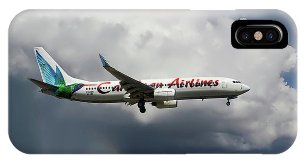 Airline iPhone Case - Caribbean Airlines Boeing 737-8q8 by Smart Aviation