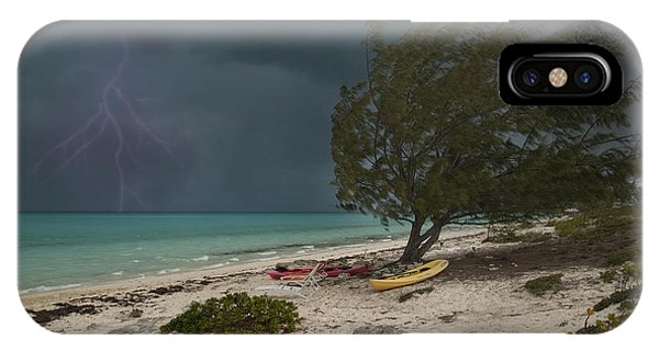Carribbean iPhone Case - Caribbean Bolt by Betsy Knapp