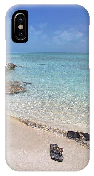 Carribbean iPhone Case - Caribbean Flippin Flops by Betsy Knapp