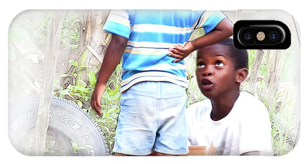 Caribbean Kids Illustration IPhone Case
