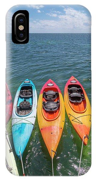 Carribbean iPhone Case - Caribbean Sailing Kayaks by Betsy Knapp