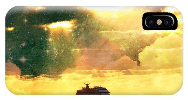 Caribbean Sunset Cloud Art IPhone Case