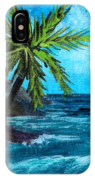 IPhone Case featuring the painting Caribbean Vacation #1 by Anastasiya Malakhova