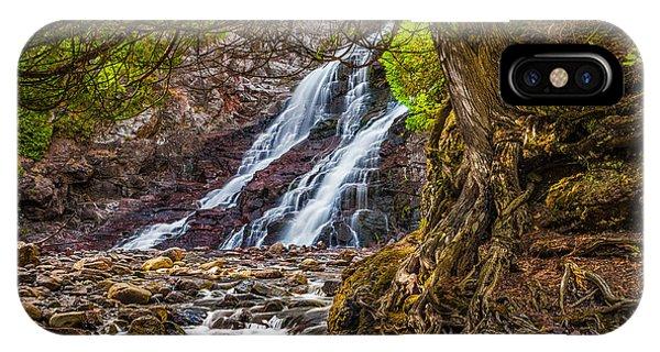 Caribou Falls In Fall IPhone Case