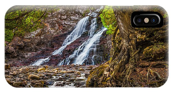 Caribou Falls In Fall IPhone Case