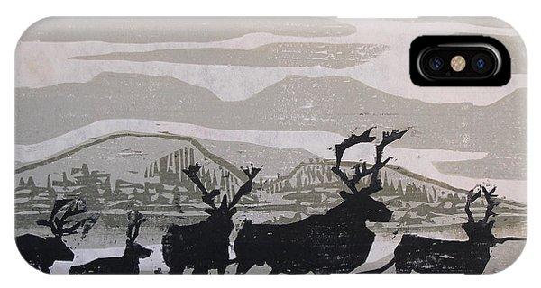 Caribou Yukon Territory  IPhone Case