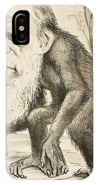 Caricature Of Charles Darwin IPhone Case
