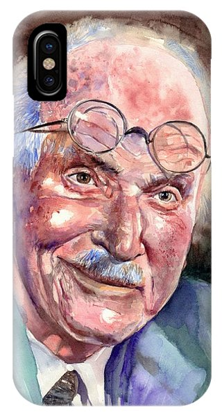 Blues Legends iPhone Case - Carl Gustav Jung Portrait by Suzann's Art