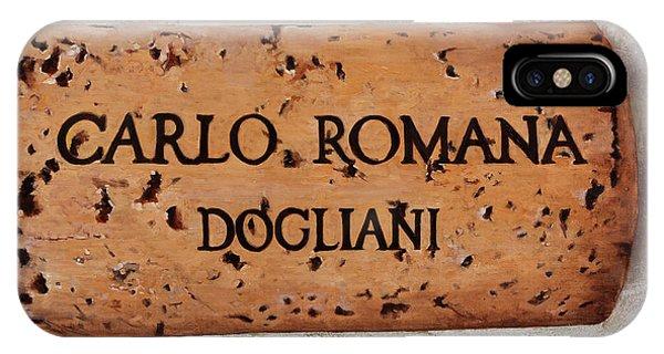 Vino iPhone Case - Carlo Romana Dogliani by Guido Borelli