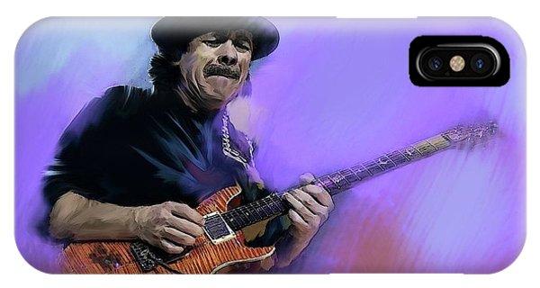 Carlos Santana Pura Vida IPhone Case