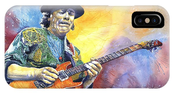 Paper iPhone Case - Carlos Santana by Yuriy Shevchuk
