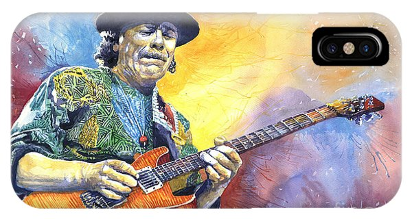 Legends Music iPhone Case - Carlos Santana by Yuriy Shevchuk