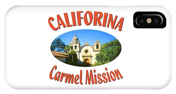Sports Clothing iPhone Case - Carmel Mission California Design by Peter Potter
