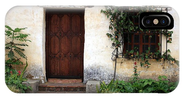 Carmel Mission Door IPhone Case