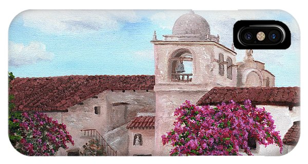 Monterey iPhone Case - Carmel Mission In Spring by Laura Iverson