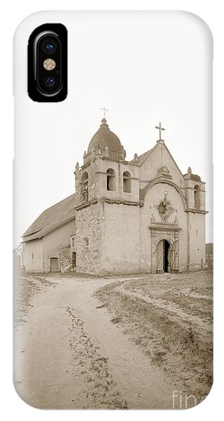 Carmel Mission South Side Circa 1915 IPhone Case