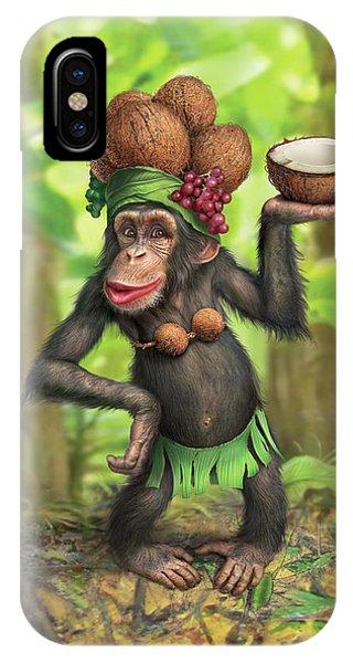 Chimpanzee iPhone Case - Carmen Coconuts by Mark Fredrickson