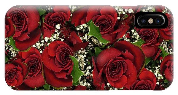 Carmine Roses IPhone Case