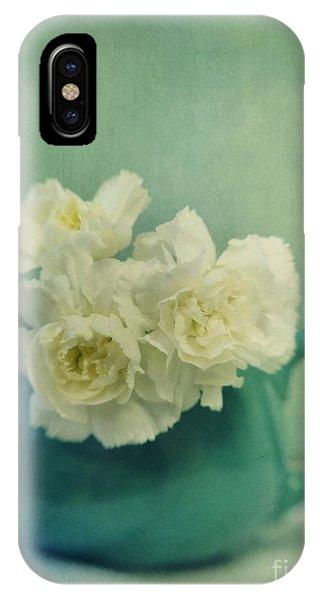 Still Life iPhone X Case - Carnations In A Jar by Priska Wettstein