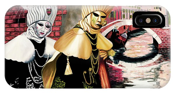 Carnevale Venezia - Prints From Original Oil Painting IPhone Case