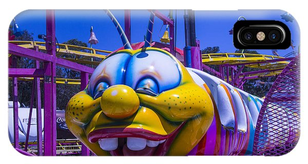 Caterpillar iPhone Case - Carnival Caterpillar Ride by Garry Gay