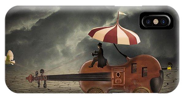 Caravan iPhone Case - Mr. Dark by Juli Scalzi